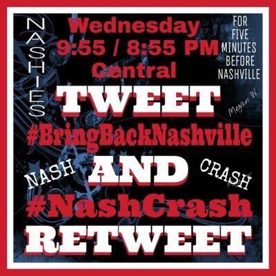Are you a fan of #nashville? Make your voice heard tonight: Join #NashCrash to #BringBackNashville https://t.co/Ewid1EDPii PLEASE RT