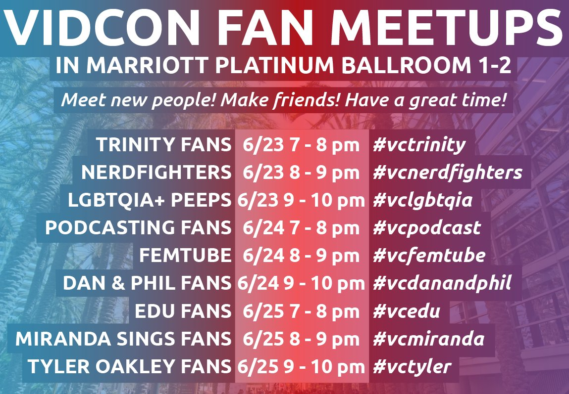 This year we're hosting FAN MEETUPS! They'll be running from 7 - 10 PM each night in Marriott Platinum Ballroom 1-2. https://t.co/OyKArfvYzz