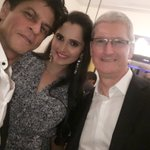 Thank you for being such a good host @iamsrk and such a pleasure to meet @tim_cook .. Welcome to India :) https://t.co/Yklr1DmHc2