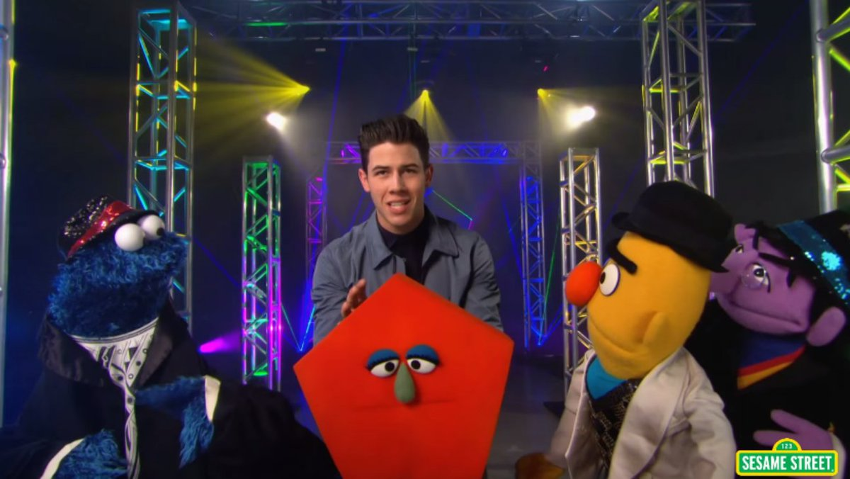 Watch Nick Jonas and 'Sesame Street' make pentagons sound sexy in