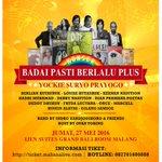 #Malang Konser Badai Pasti Berlalu Plus. 27 Mei 2016 at Ijen Suites Ballroom. More info >>> https://t.co/4QQMjrtAiE… https://t.co/VPCXS6AU72