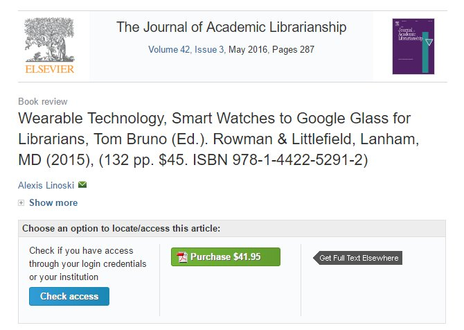 Hmmm.  Read the review for $41.95 or get the whole damn book for $45.  WHAT SHOULD I DO, ELSEVIER? https://t.co/1BUqUJuCxK