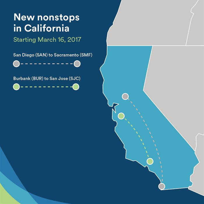 New in March 2017: more choices for intra-California travel.