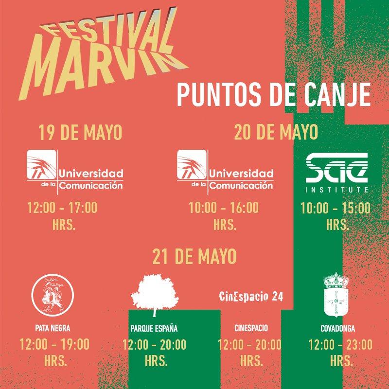 ¡Si ya tienes tus boletos para #FestivalMarvin no olviden canjearlos en @UC_oficial @mexicosae o en cualquier venue! https://t.co/5CsQTkSl5W