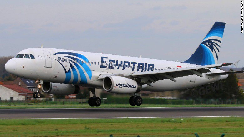 The area where the EgyptAir plane disappeared is