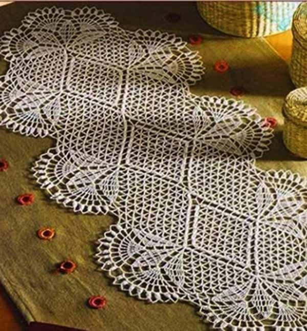Вязанье крючком на стол