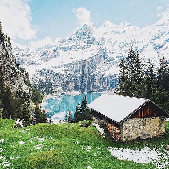 Oeschinensee, Kandersteg, Switzerland | Photography by ©Janne Honkaniemi https://t.co/TOS72FacAT