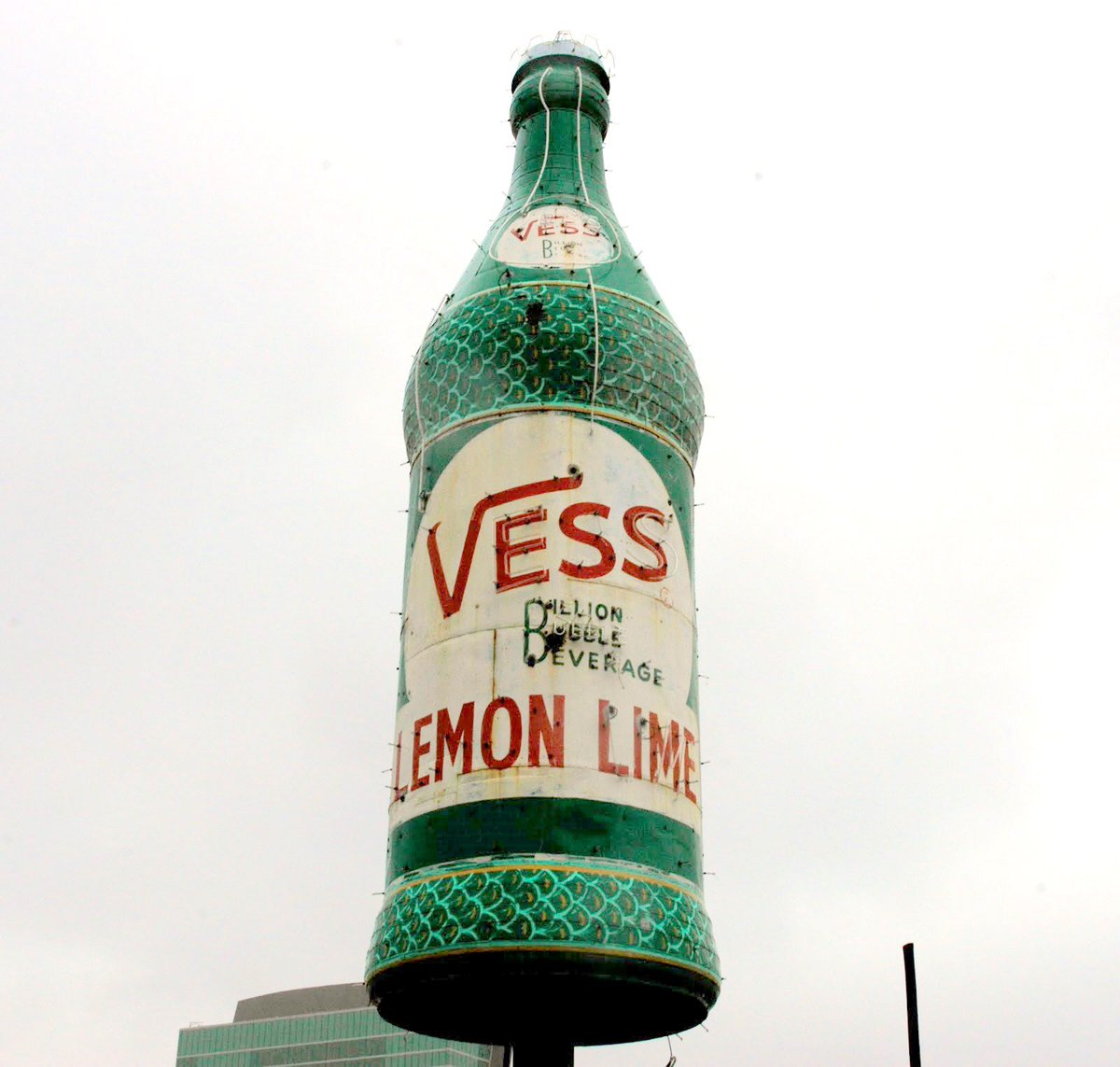 Cool to see Vess is announcing the big bottle just north of downtown is getting restored. https://t.co/uem4Mix4jd