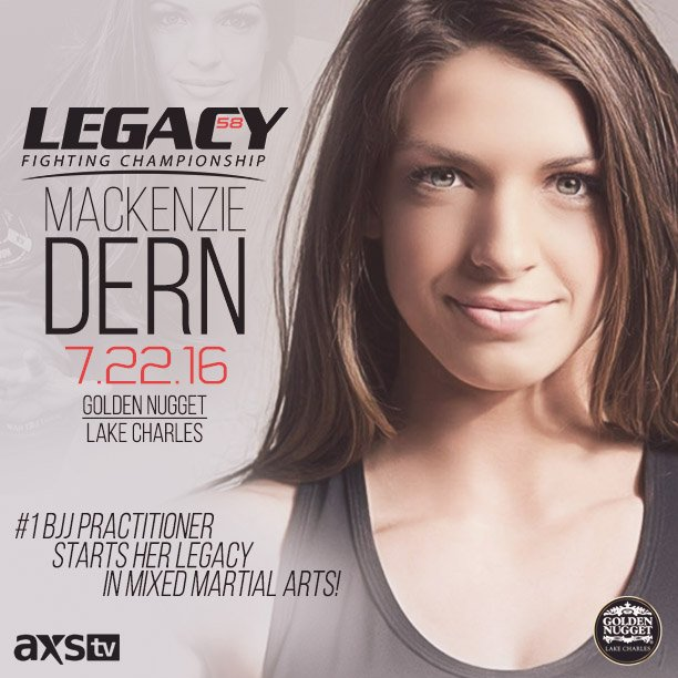 #Legacy58 The #1 Female BJJ practitioner in the world @MackenzieDern starts her Legacy in MMA! LIVE on @AXSTVFights https://t.co/6N3tXxWvM2