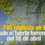 Ecuador ha registrado unas 39 réplicas diarias luego del terremoto del 16 de abril. ► https://t.co/ulD8SyT175 https://t.co/4Zl9ZXQ7vc