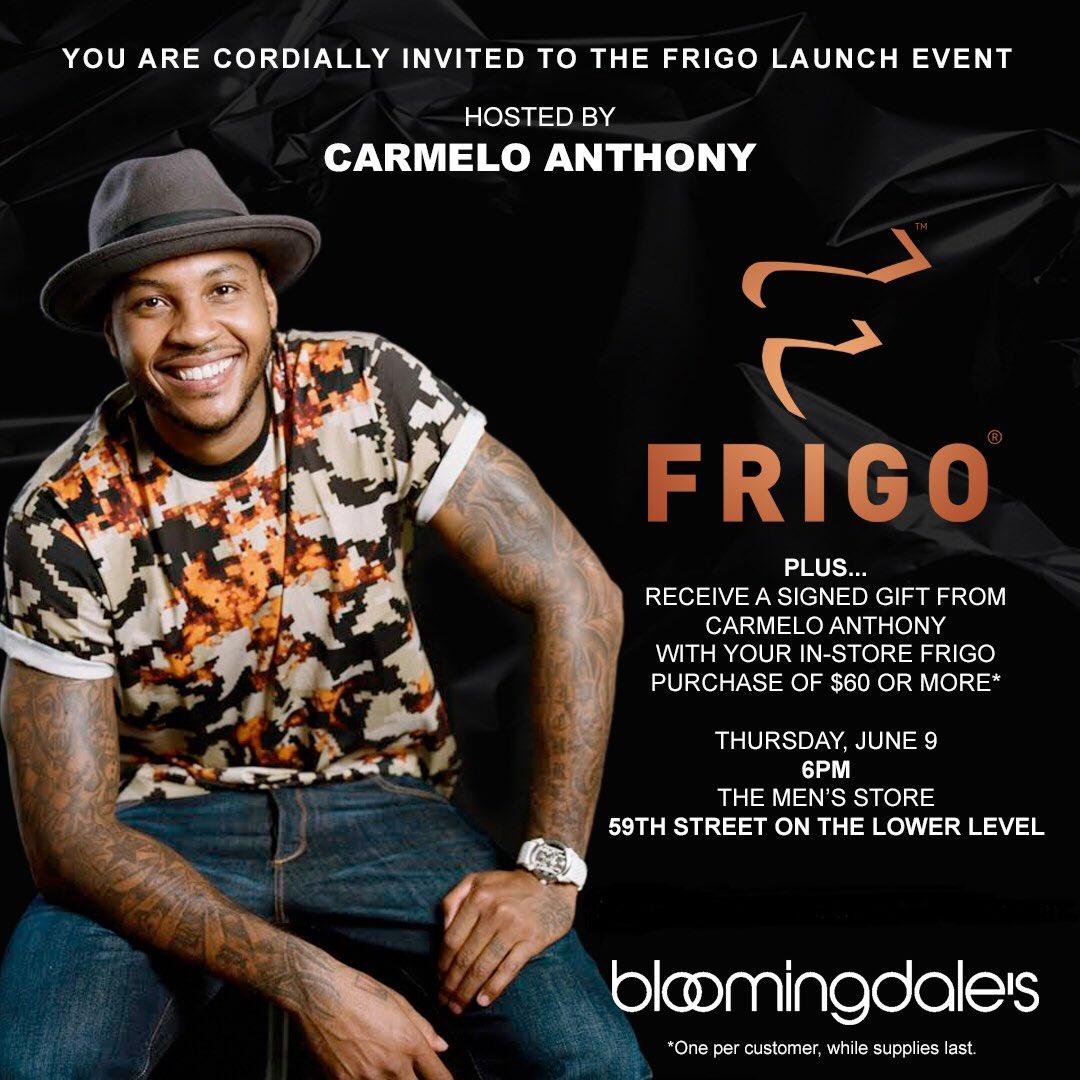 My boy MELO for the FRIGO launch in NYC don't miss it #FRIGO https://t.co/iq1t8ZZEA8