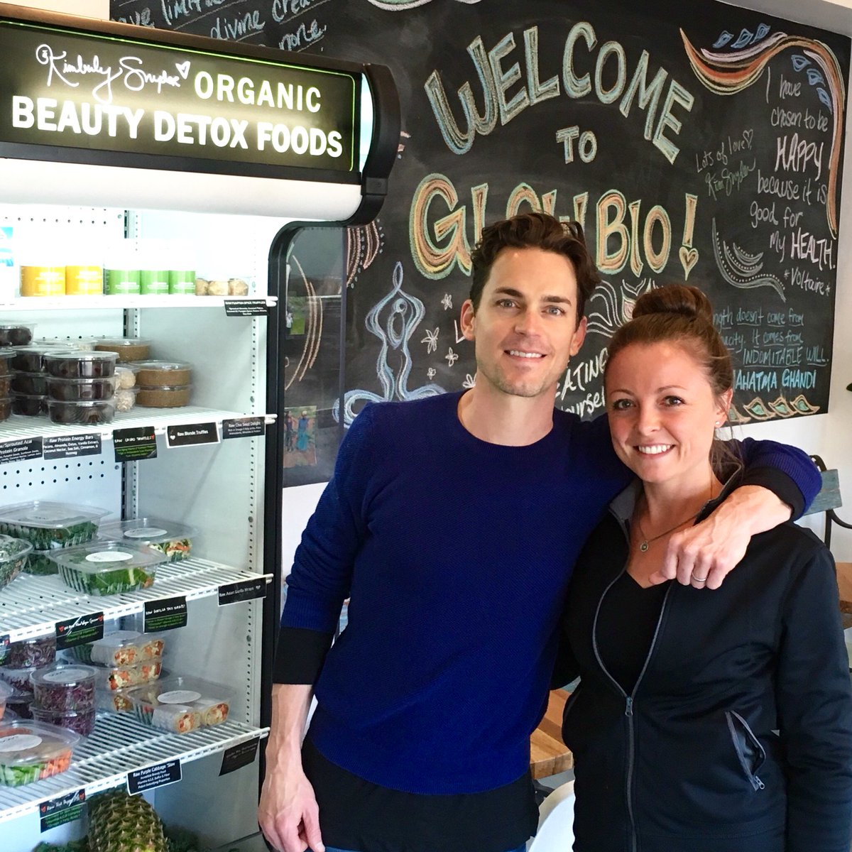 We love when @MattBomer stops by @GlowBio! Summer is about to be in full swing- considering a juice cleanse? ;) https://t.co/5fP65COx2a