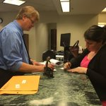 Brad Anderson reviews Kirsten Johnsons paperwork to run for state Senate. 1 hr till the filing period closes #mnleg https://t.co/66ewqU6iP1