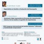 """Próxima actividad #Junio""""Gestión y Evaluación de Desempeño"""" """"Innovacion en procesos comunicación interna""""#Quito #Gye https://t.co/qNzga8Iwkn"""
