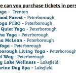 Where did you get your #festival tickets? #ptbo #yoga @OnTouristcom @Ptbo_Canada @LakefieldHerald @PtboExaminer https://t.co/8XMdw7JTHE