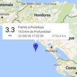 #Sismo de 3,3 frente a Poneloya a las 5:52 pm. @VivaNicaragua13 https://t.co/BxvNKuc3FX