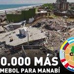 ¡UN MILLÓN PARA MANABÍ! La CONMEBOL enviará otros $500.000 para equipos de Manabí afectados por terremoto. https://t.co/8zGBXfL4H1
