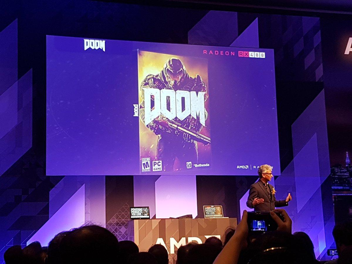 "200+ FPS on Polaris + Vulkan   ""You won't need a $700 GPU to enjoy DOOM"" - Raja   @AMDRadeon https://t.co/Z3YMjOs0BT"