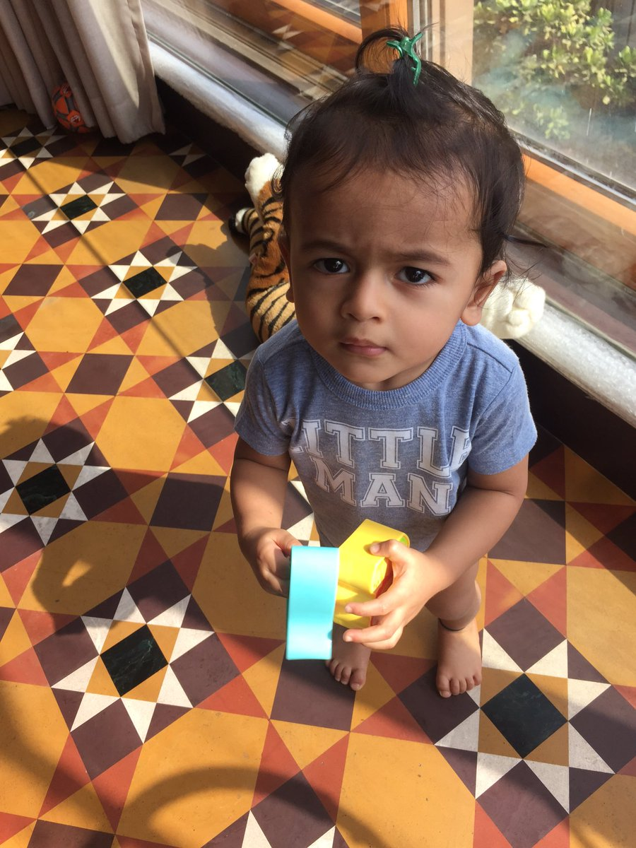 Hey guys, my Aai & Baba just gifted me a little brother. Now all my toys are his...- Love Riaan https://t.co/H8JSKE0A3d