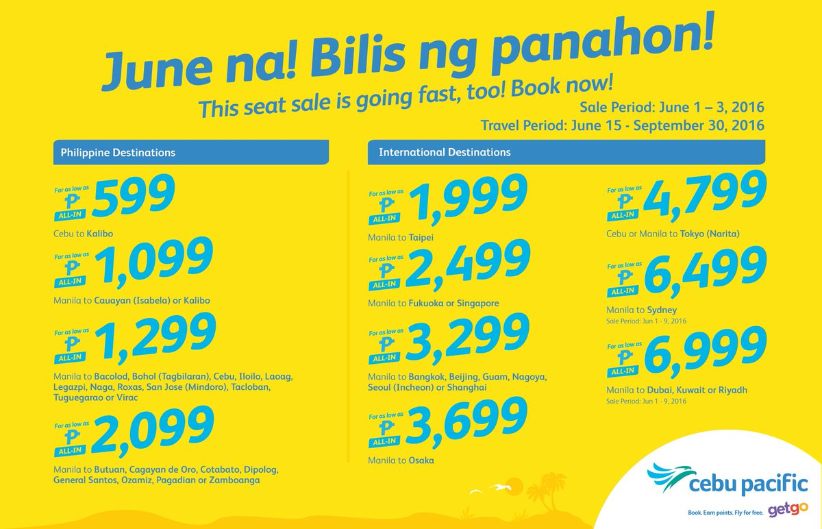 Time flies when you're having fun planning where to go with the new CEBSeatSale! Book now!