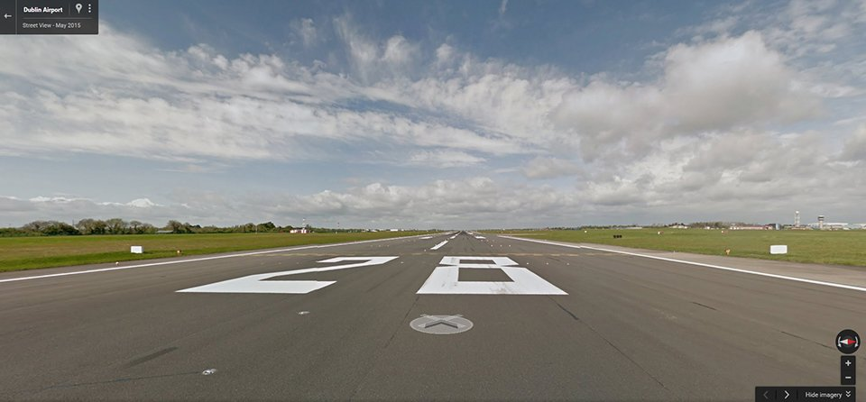.@DublinAirport first airport globally to map runway & airfield with Google Street View