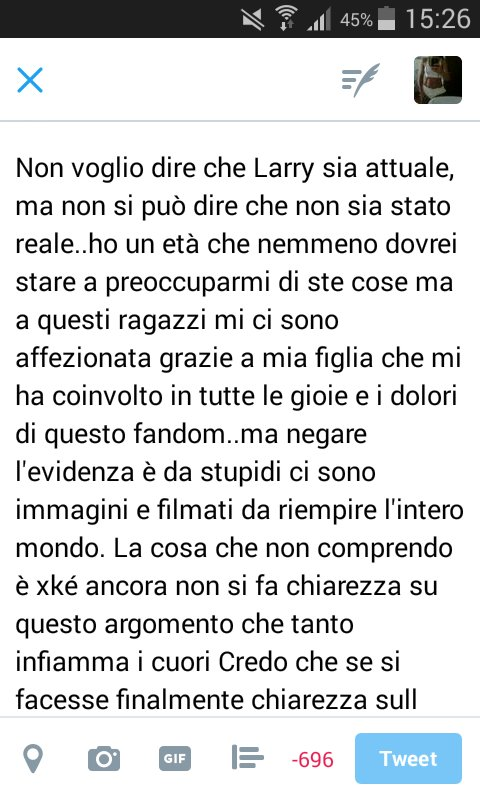 #LarryWasNeverRealParty