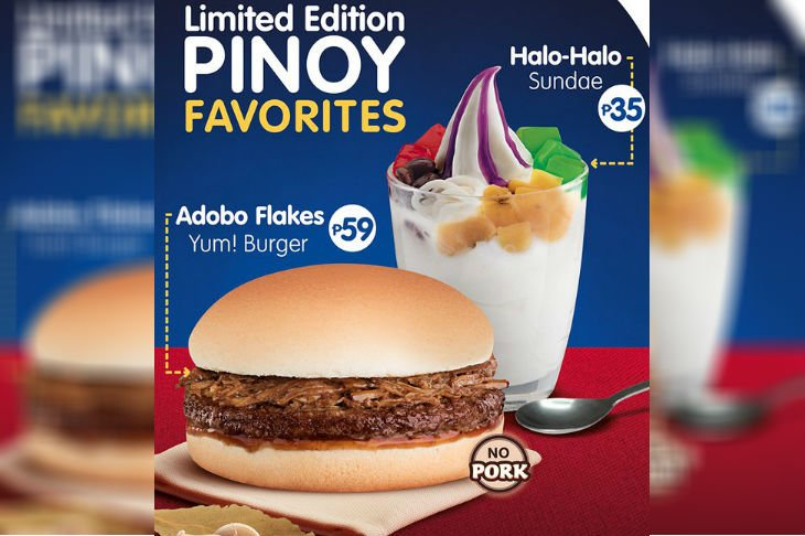 Jollibee Offers Adobo Burger Halo Sundae Tco