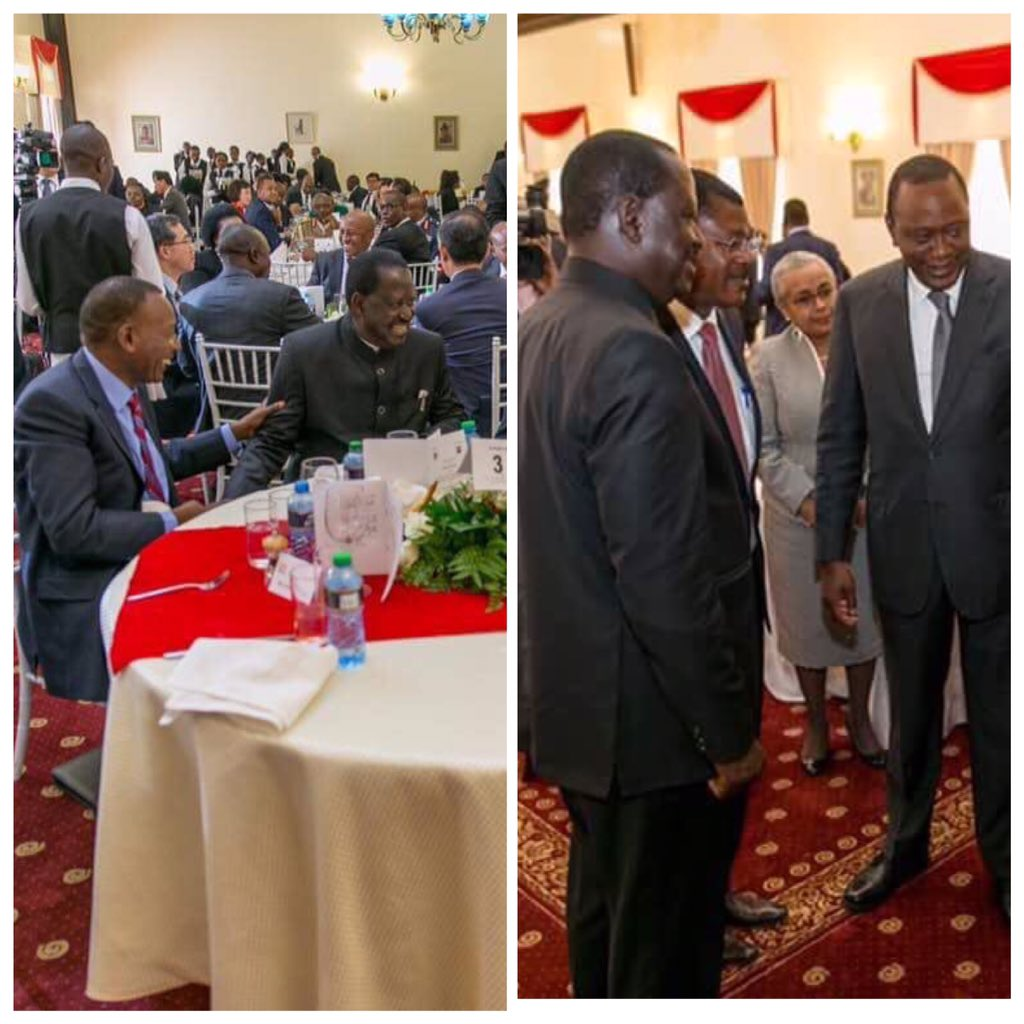M7 locks up his main challenger but Uhuru hosts the man roasting his tail to a state banquet w a visiting president. https://t.co/ethNyf05zB