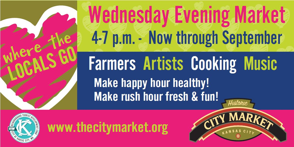 Healthy happy hour. Do a little shopping. Enjoy live music. Taste a little nom nom. 4-7 p.m. TODAY @TheCityMarketKC https://t.co/Btby6Ileaa