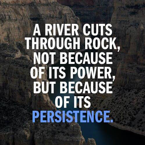 A river cuts through rock, not because of its power, but because of its persistence... https://t.co/st2dBO3K8n
