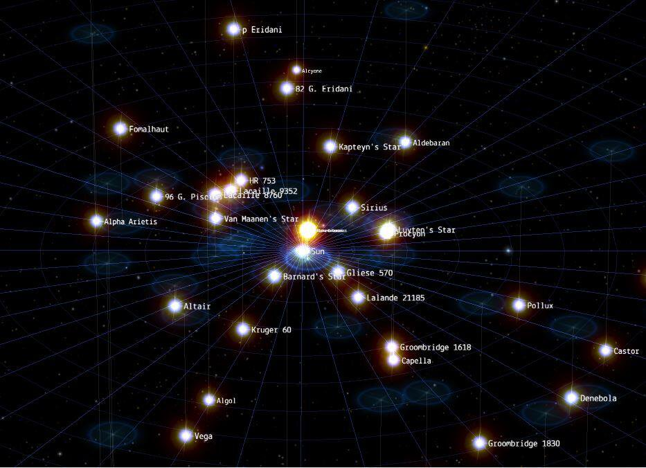 Space An Interactive Map Of Our Galactic Neighborhood Hours Of - Interactive space map