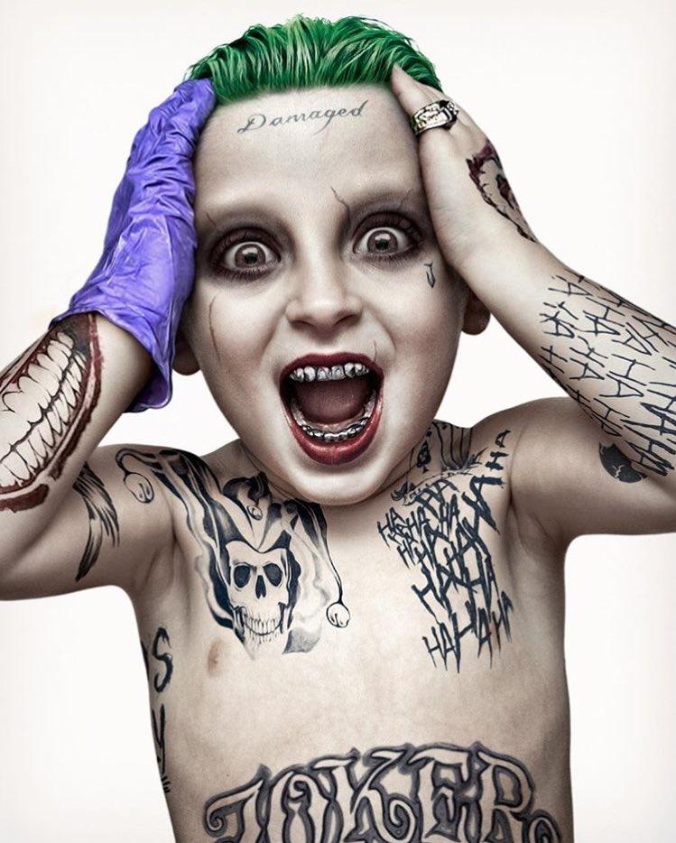 RT @DcComicsUnited: Michael Scott Whitson turned his 3-year-old into the Joker! @JaredLeto @SuicideSquadWB @DavidAyerMovies https://t.co/0w…