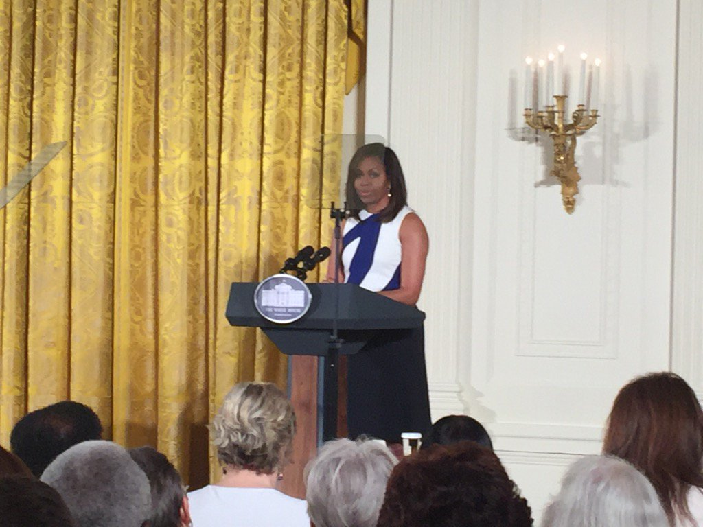 First Lady talking about library & museum impacts—engagement, citizenship, & more on 6/1 at #NationalMedal https://t.co/r5pu8PXv1V