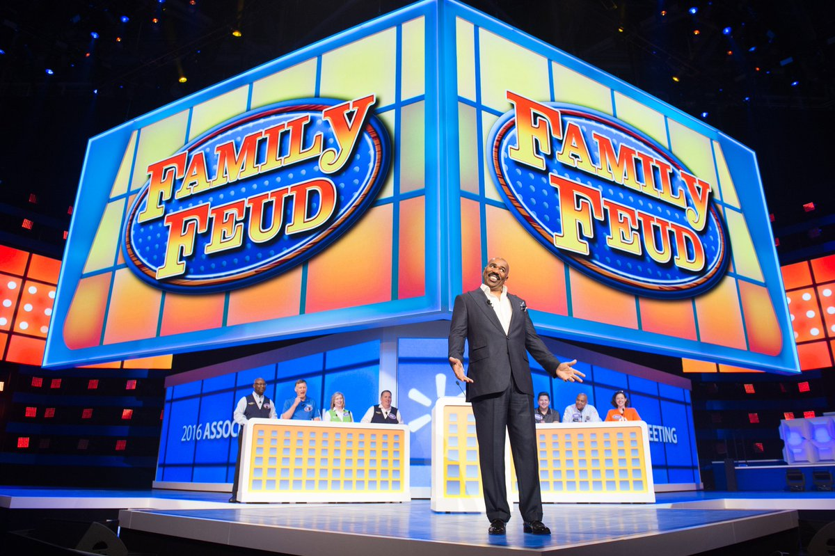 Amazing morning! Big thanks to Mr. @IAmSteveHarvey for hosting a special #WalmartShares edition of @FamilyFeud. https://t.co/uGKbRP66UE