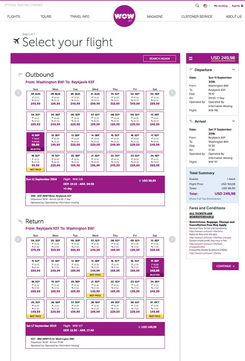 RT @airfarewatchdog: Baltimore BWI to Reykjavik KEF Iceland $250 nonstop @wow_air for September travel airfare h…
