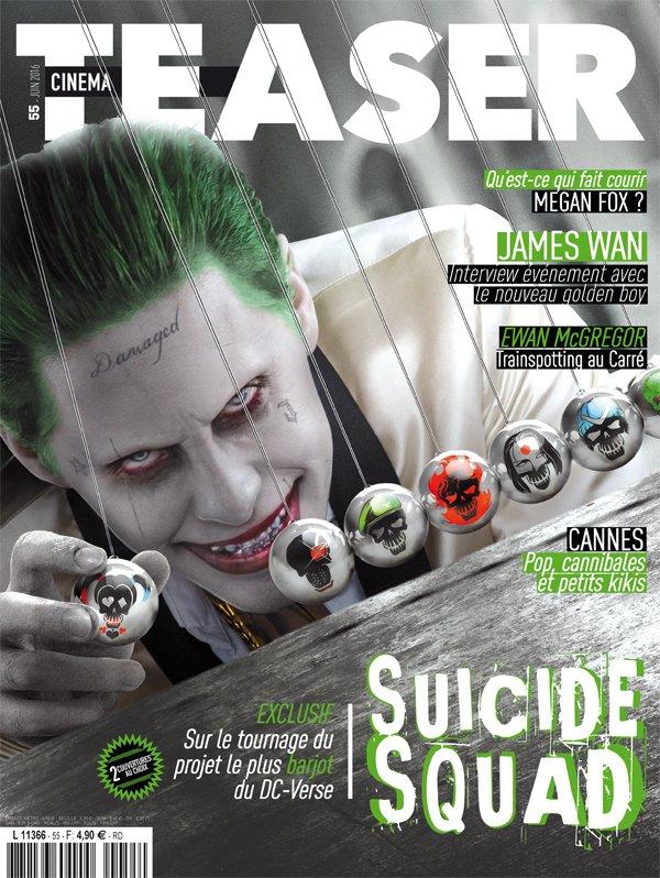 RT @cinemateaser: En kiosques le 8 juin, Cinemateaser n°55 avec #SuicideSquad en vedette et deux couvertures. Choix 2 : #JokerWasHere https…