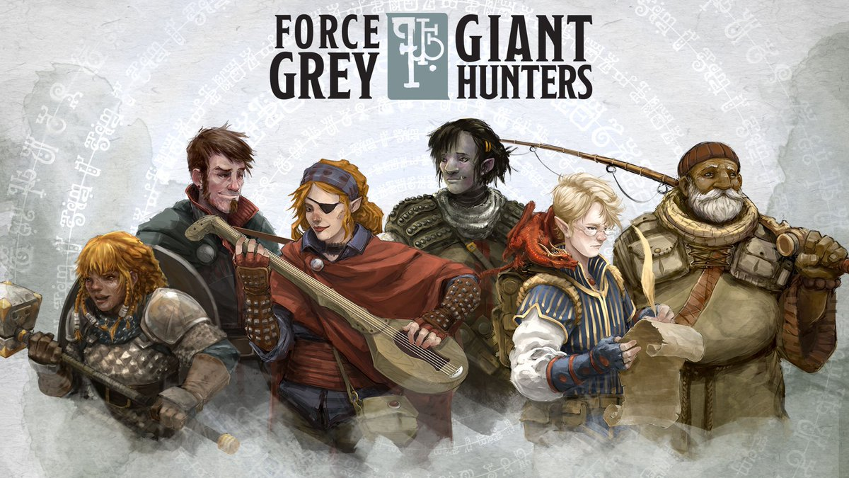 And @matthewmercer just announced the #dnd video series he'll be running this summer - Force Grey: Giant Hunters! https://t.co/q7p36hei4Z