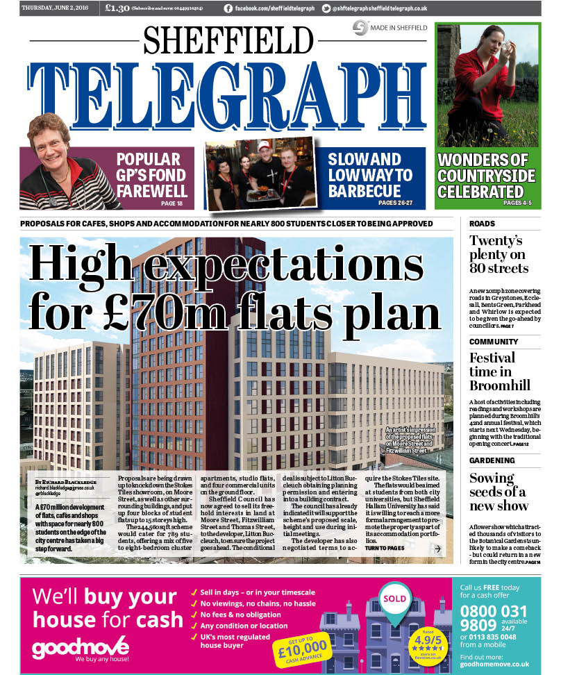 A £70m scheme of flats and shops in #Sheffield has taken a big step forward: this week's @shftelegraph, out tomorrow https://t.co/eXOdKIc1lt