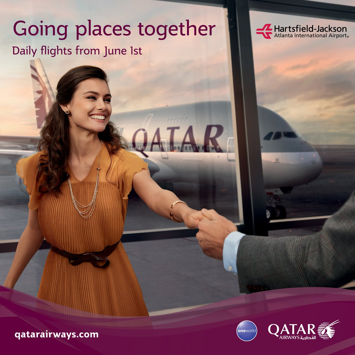 Starting today, June 1st, ATL will offer daily flights on @qatarairways.Book your trip here