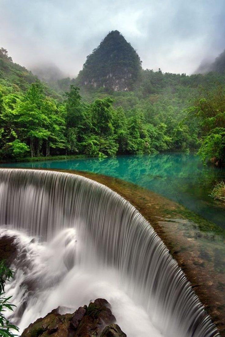 Waterfall In Libo Guizhou, China | Photography by ©Simon Long https://t.co/xVsANQbJsm
