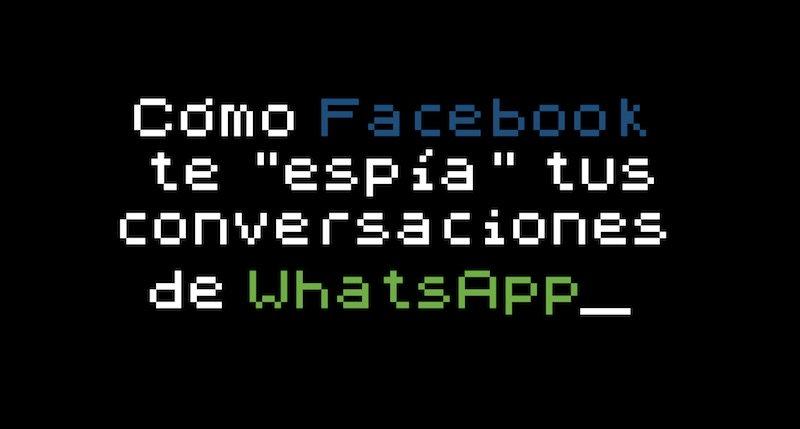 """El lado del mal - Cómo Facebook """"espía"""" tus conversaciones de WhatsApp https://t.co/ppR7b4k8Fq #Facebook #WhatsApp https://t.co/L3DXlIhwwX"""