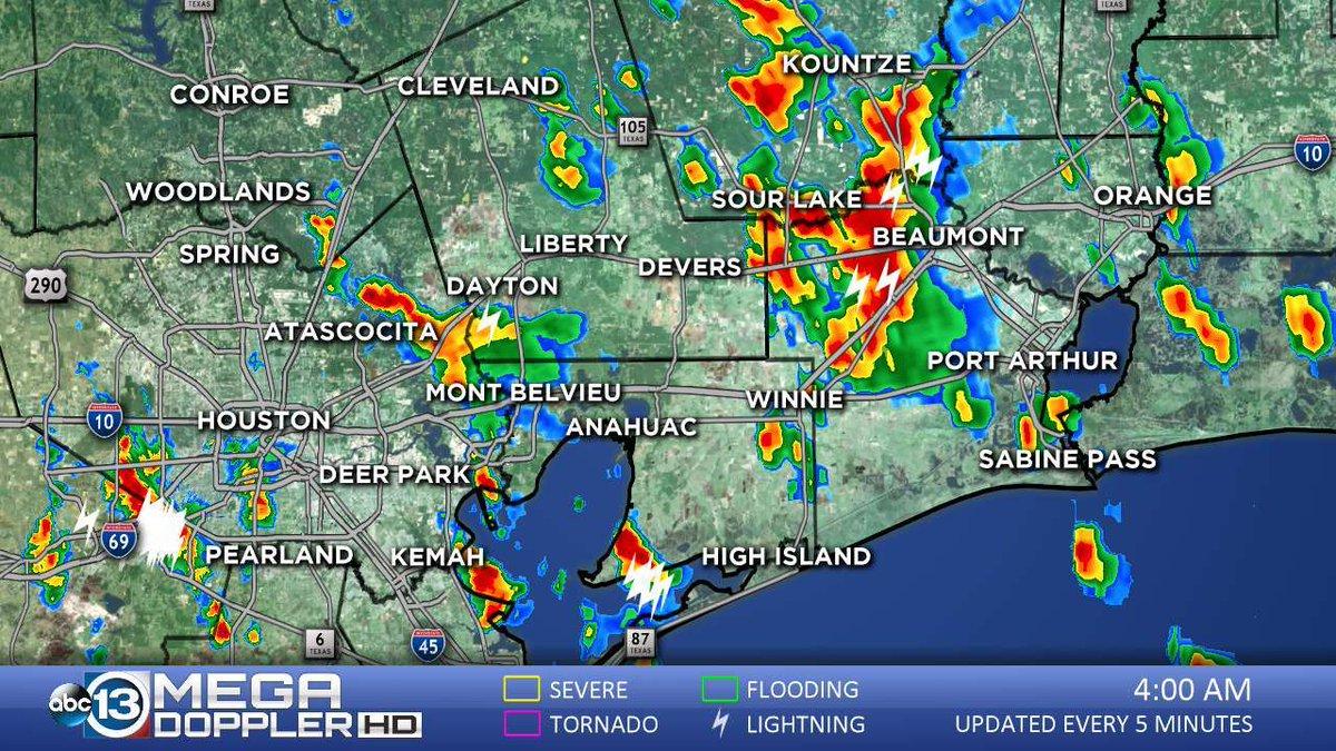 Weather Update Flood Watch In Effect For Se Texas Live Doppler Radar