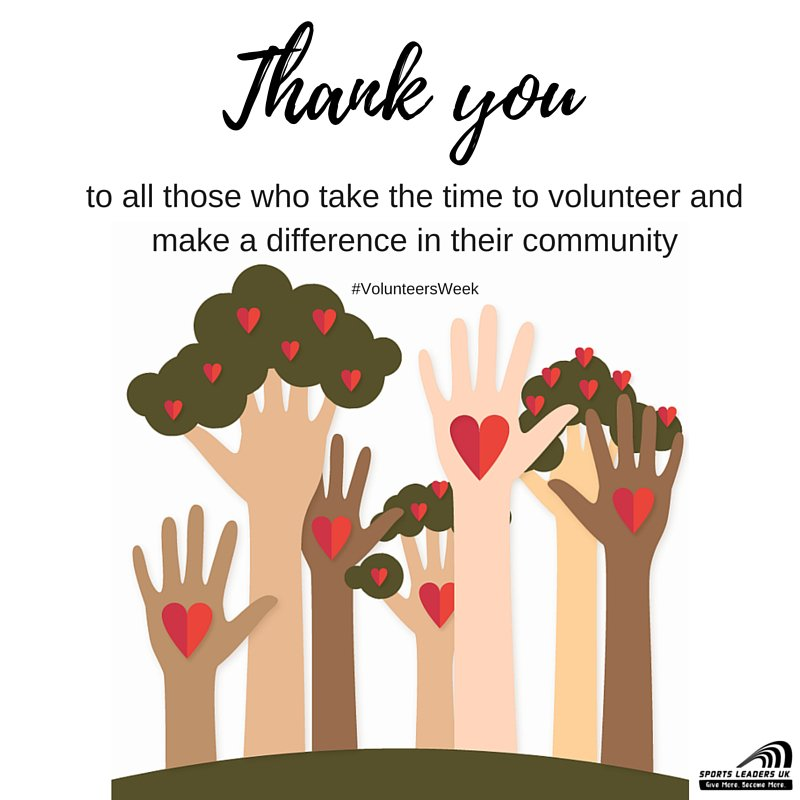 A massive THANK YOU to all those that take time to volunteer - you make a huge difference! #volunteerweek https://t.co/gXLs9J6DfW