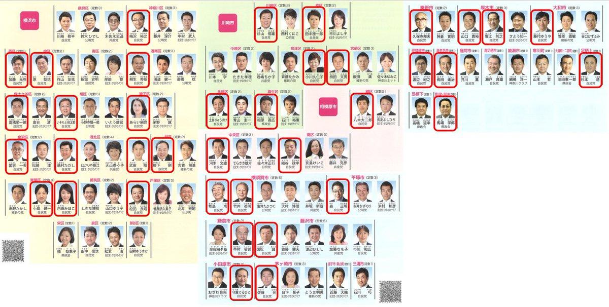 作ってみたら気持ち悪うなったやんか 赤で囲んでるのが日本会議で活躍中の神奈川県議会議員のみなさんやんか #神奈川県議会 https://t.co/5Au1T3Xfuy