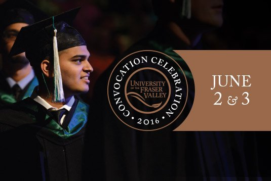 Today's the day! The first of two days of #UFVconvo16 ceremonies! Congratulations to all of our graduates! https://t.co/3Cx7GiOv1x