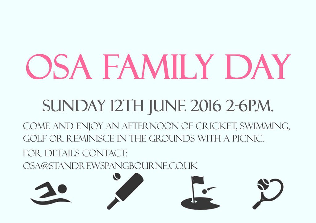 #StAndrew's #OSA #alumni family day is coming up soon https://t.co/Pzf85evlHo