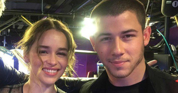 Nick Jonas embarrasses himself (twice!) meeting Emilia Clarke: