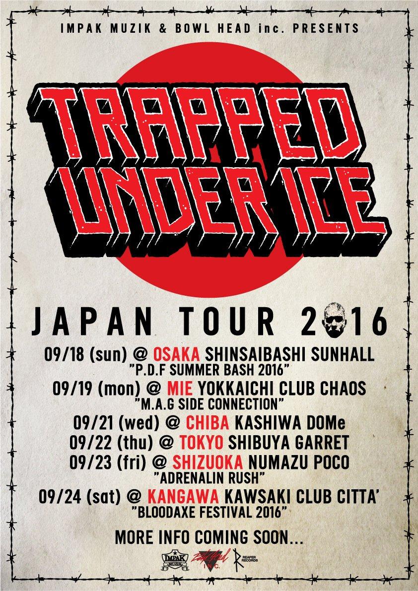 TRAPPED UNDER ICE JAPAN TOUR 2016!! 2010年の初来日以来、約6年振りにTUIの再来日決定しました!! https://t.co/sJJxm7BRPL