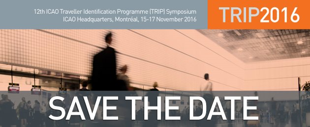 Save the date for the icaoTRIP Symposium 2016 in Montréal