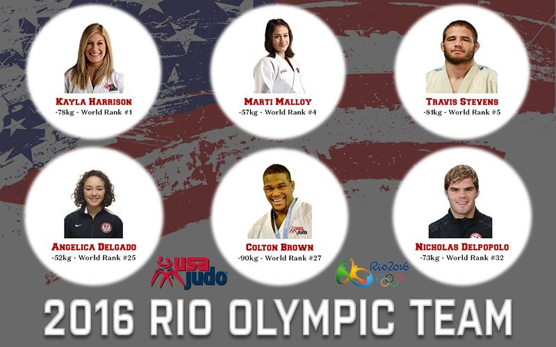 Here is your USA Judo Olympic Team for the 2016 Rio Olympics! Congratulations to the team! https://t.co/E854NddCbw